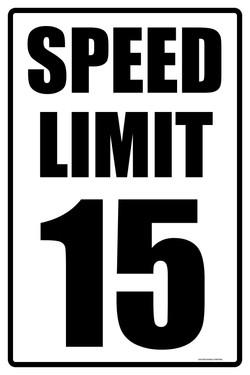 """12""""X18"""" SPEED LIMIT 15"""