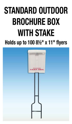 BROCHURE BOX WITH STAKE
