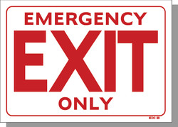 """10""""X14"""" EMERGENCY EXIT ONLY"""