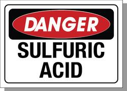 DANGER-SULFURIC ACID