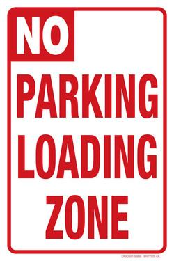 "12""x18"" NO PARKING LOADING ZONE"