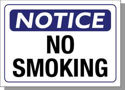 NOTICE-NO SMOKING