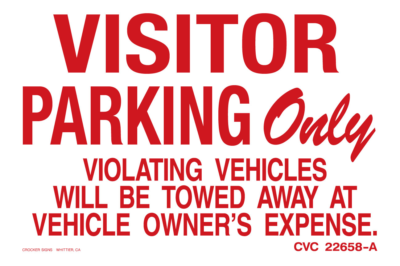 """12""""X18"""" VISITOR PARKING"""