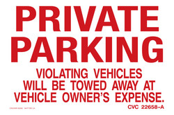"""12""""X18"""" PRIVATE PARKING"""