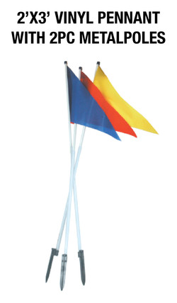 2'X3' PENNANT WITH 2 METAL POLES