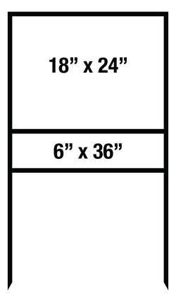 """18""""x24"""" & 6""""x36"""" Metal Sign Frame"""