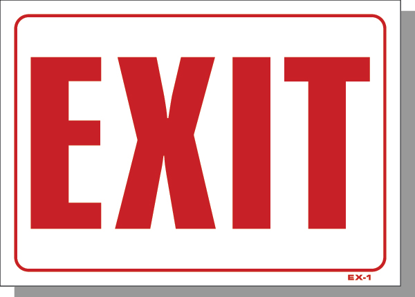"10""X14"" EXIT"