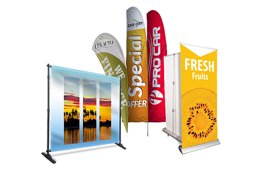Stands, Flags, Retractable Banners