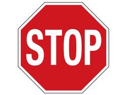 "24"" 080 ALUM. REFLECTIVE STOP SIGN"