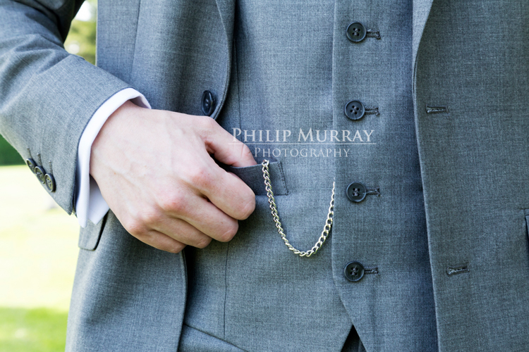 Wedding_S&D_Groom_Suit_Pocketwatch_Grey_Hand_Philip_Murray_Photography_Dublin
