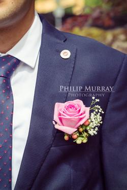Wedding_N&A_Couple_Groom_Suit_Button_hole_Pin_Colour_Bahai_Stephens_Green_Philip_Murray_Photography_