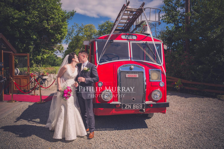 Wedding_A&S_Couple_Bride_Groom_Fireman_Fire_Truck_Kiss_Philip_Murray_Photography_Dublin