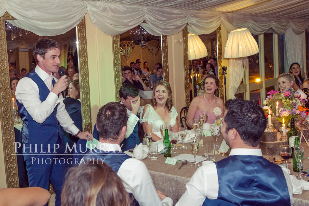 Wedding_A&F_Couple_Bride_Groom_Speeches_Bestman_Laughing_Bridal_Party_Philip_Murray_Photography
