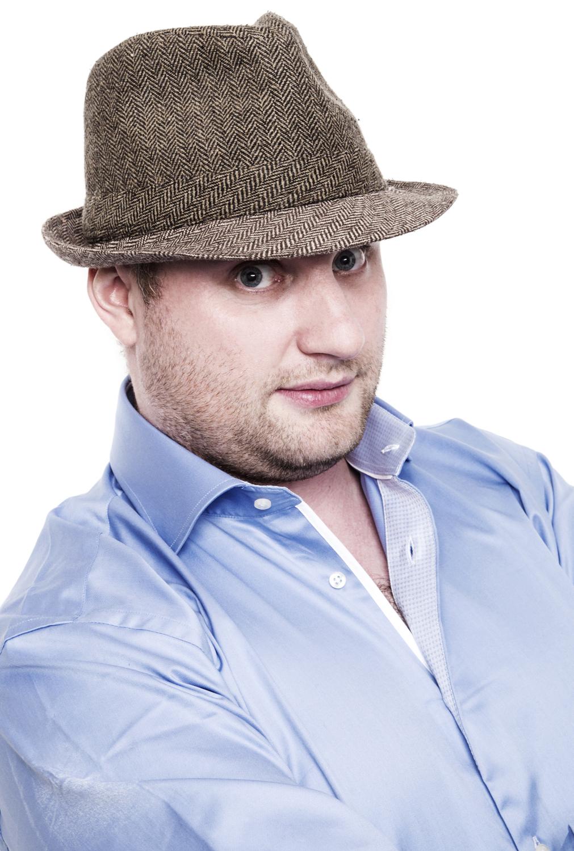 Fred Cooke Man Comedian Hat Blue Shi