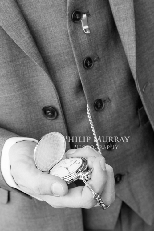 Wedding_S&D_Groom_Suit_Pocketwatch_Black_and_White_Hand_Philip_Murray_Photography_Dublin