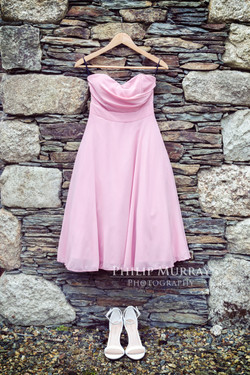 Wedding_A&F_Couple_Bride_Groom_Bridesmaid_Dress_Shoes_hanging_wall_Philip_Murray_Photography