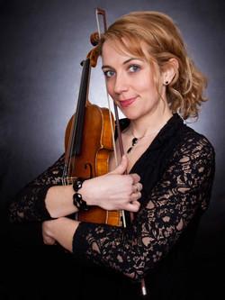 Portrait Woman Musician Violin Close