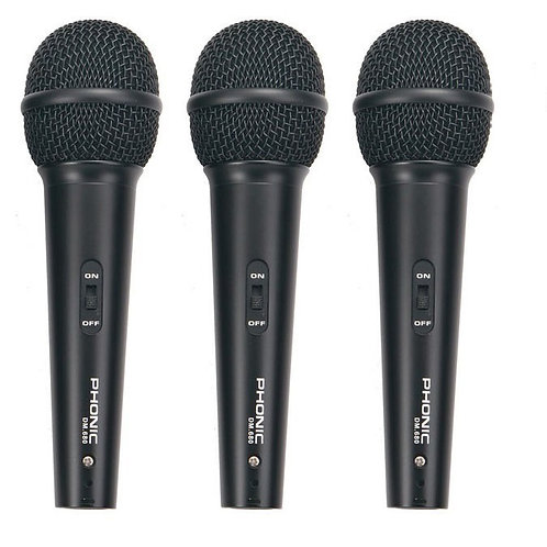 Phonic DM680 3 Microphone Pack