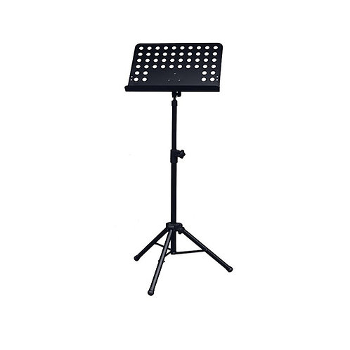 Heavy Duty Music Stand with Perforated, Solid Music Sheet Holder