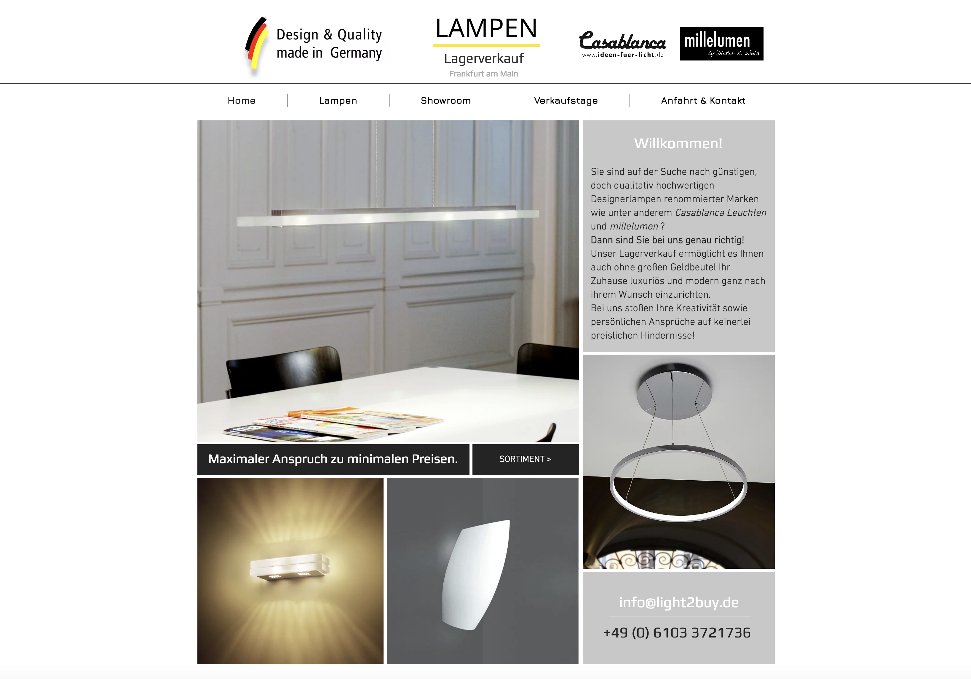 Www Lampen Frankfurt De Showroom Lagerverkauf Neu Isenburg