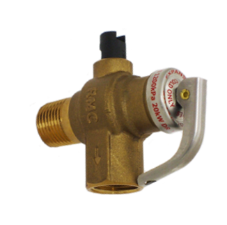 hot water temperature pressure relief valve