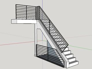 Custom handrail fabrication