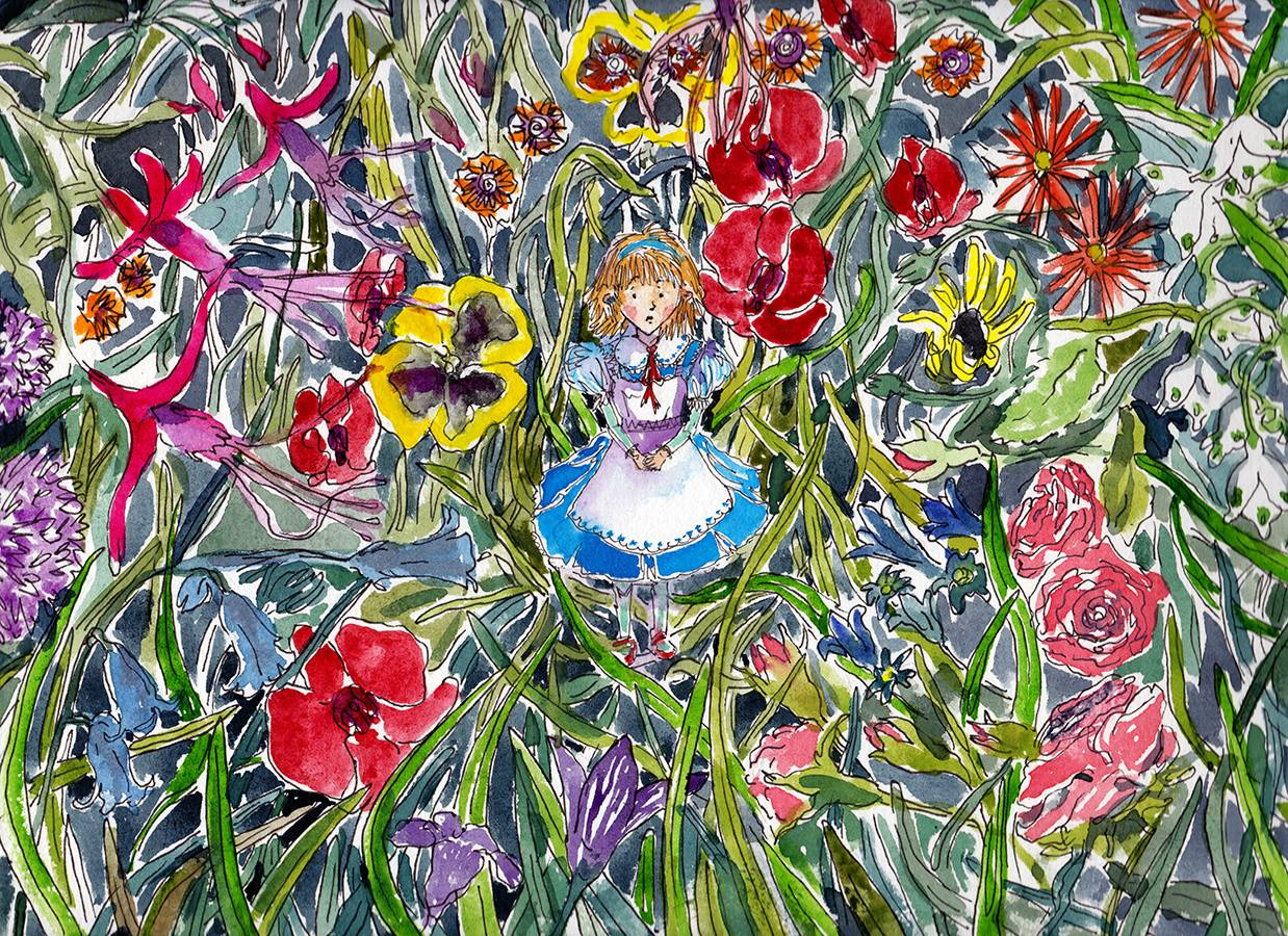 Alice & The Garden of Live Flowers