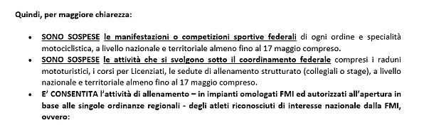 DPCM 26 aprile 2020. Aggiornamenti FMI.p