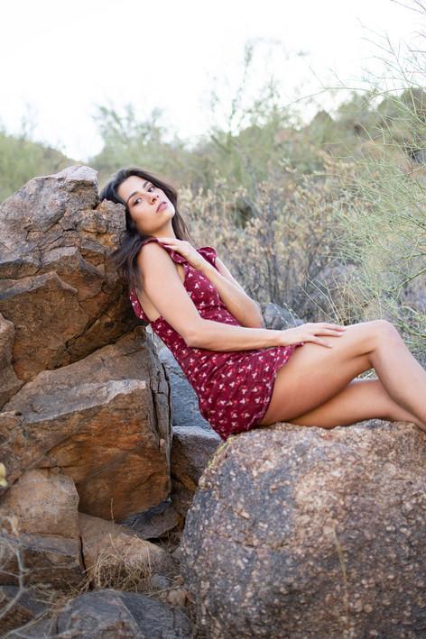 Mountain desert portrait