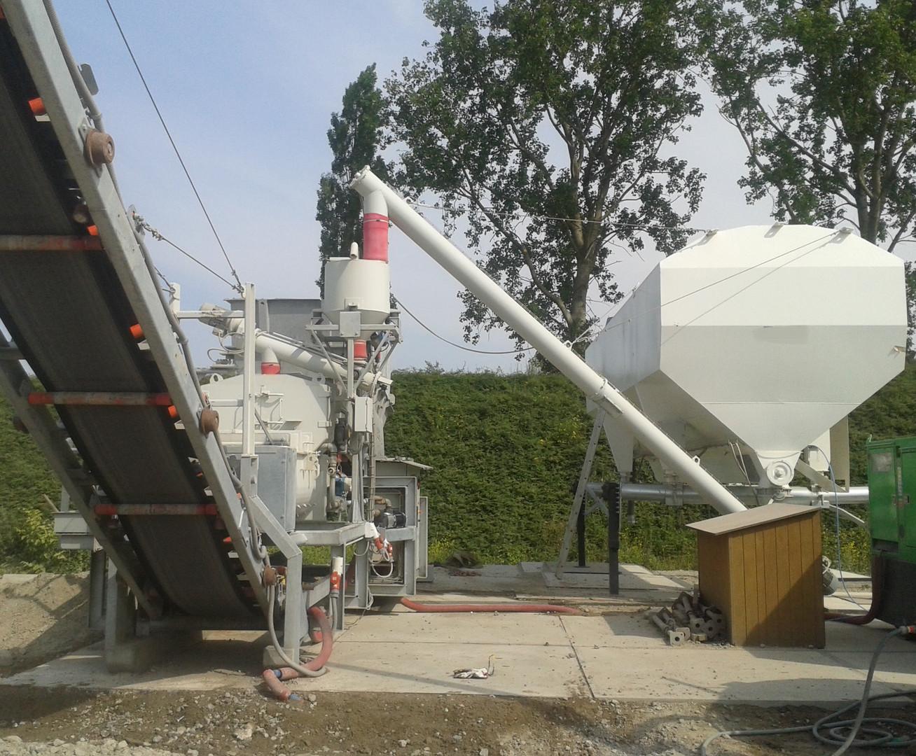 Centrale mobile chaux ciment