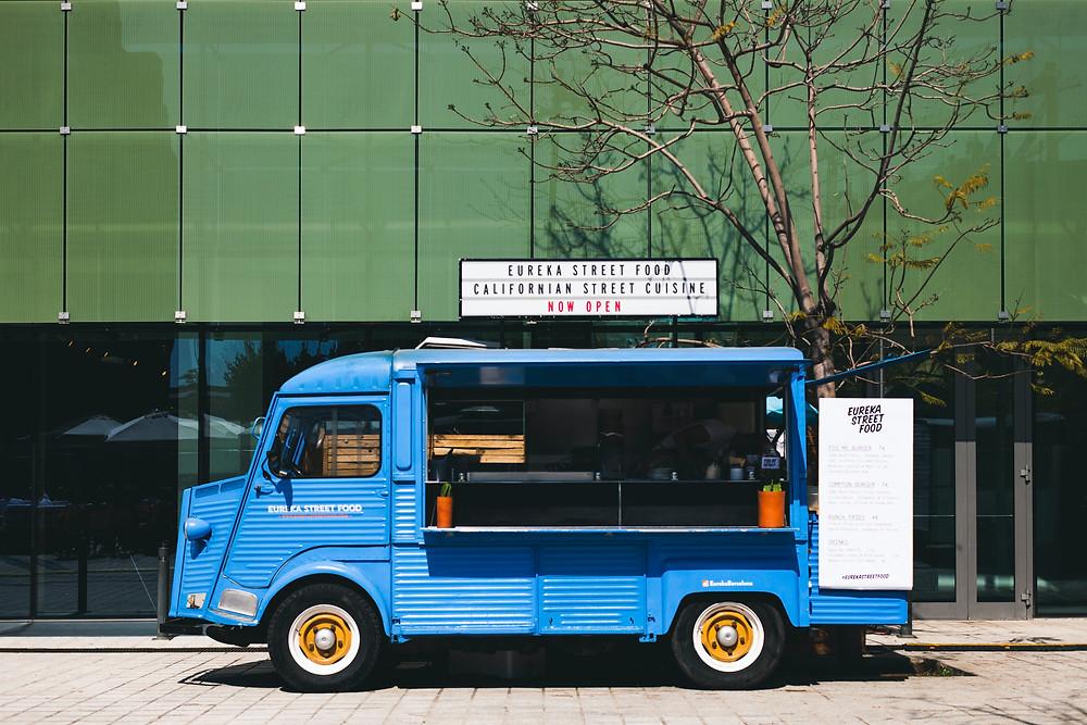 Food truck serving California street cuisine.