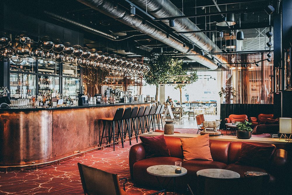 Restaurant bar with amazing design. Great place to work for job seekers.