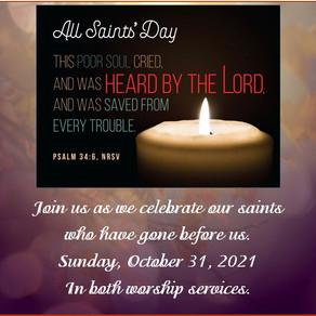 All Saints' Sunday October 31, 2021