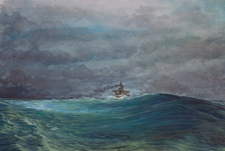 Great White Fleet in a Squall
