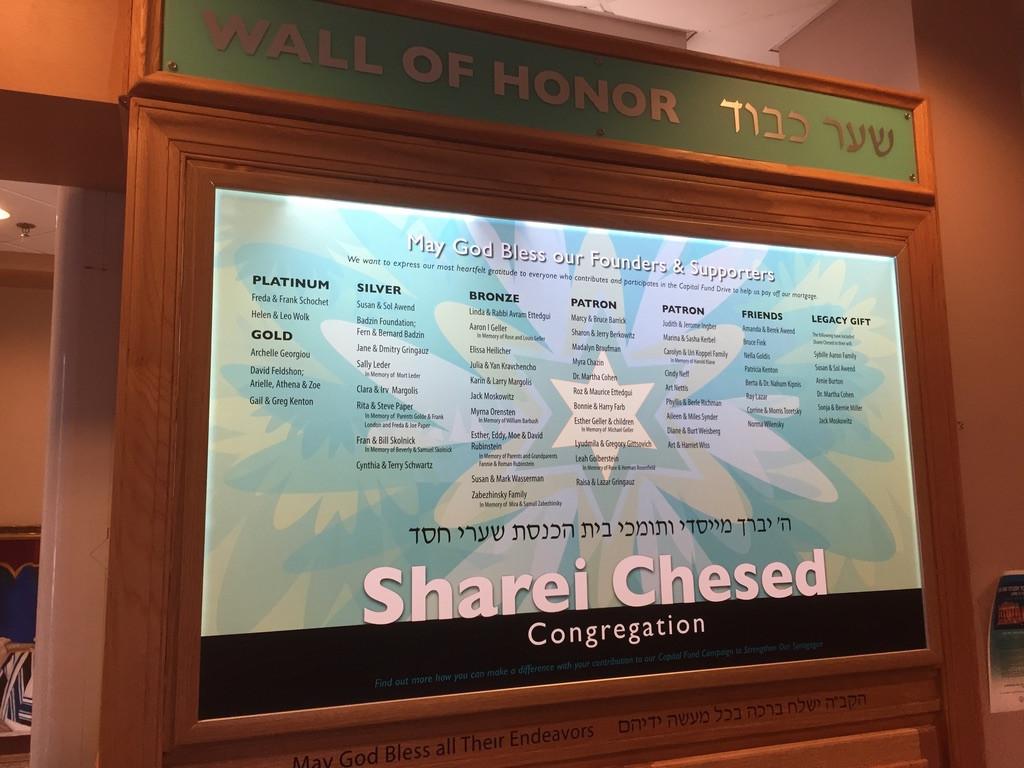 Sharei Chesed Donor Panel