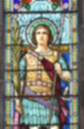 Vitrail Saint-Maurice église Sait-Maurice Neuville-les-Dames