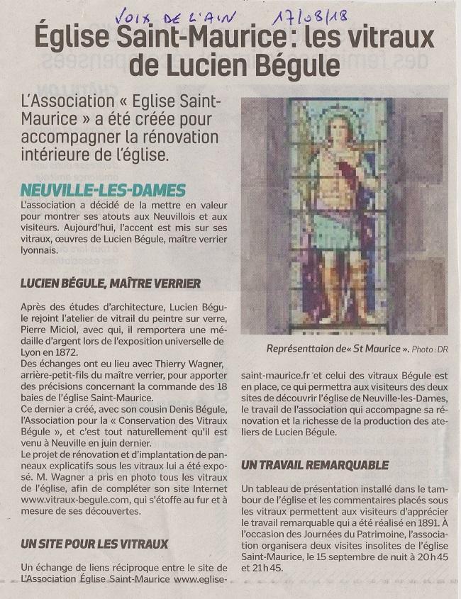 La Voix de l'Ain 17 août 2018