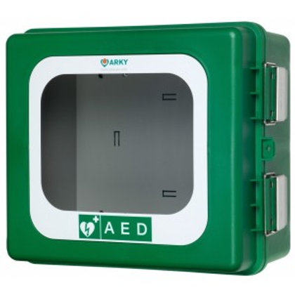 ARKY Outdoor AEDDefibrillatorCabinet Lockable, Alarm & Heated