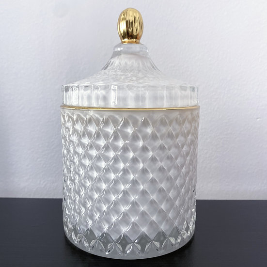 White & Gold Luxury 16oz Candle