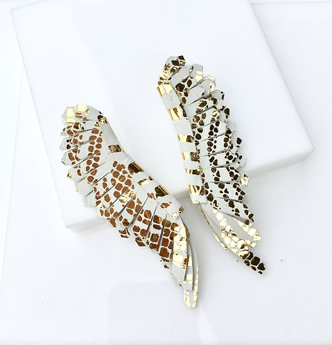 Milly Angel Wings in white and gold