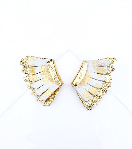 Milly minis in white leopard over gold