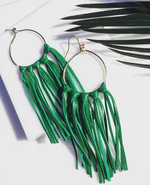 Fringe with emerald green