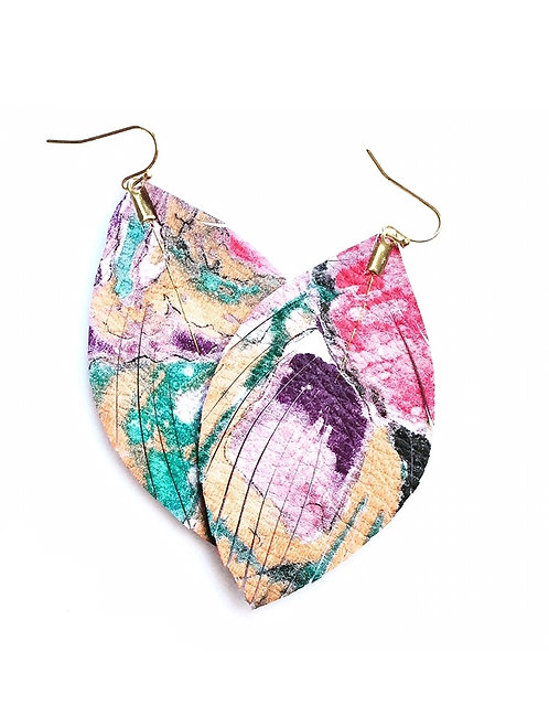 Abstract Feather Earrings