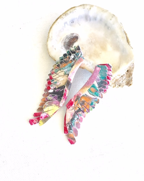 Milly Angel Wings in abstract