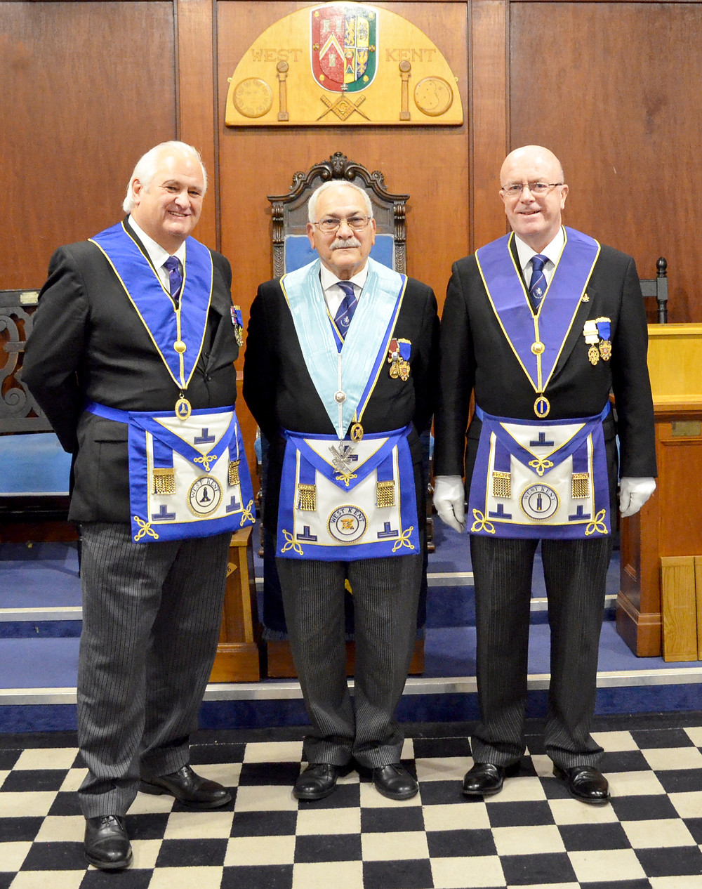 W. Bro.s Peter Brooker, Alan Sanford & Tom Quinn