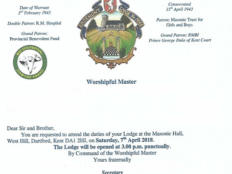Erdemont Lodge 75th Anniversary Meeting