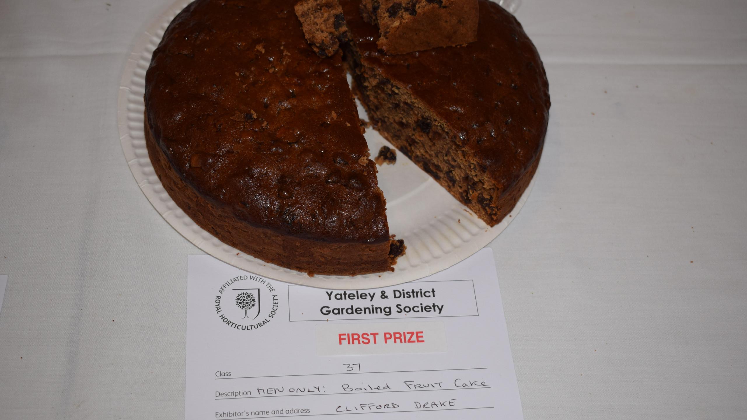 1st prize Boiled Fruit Cake
