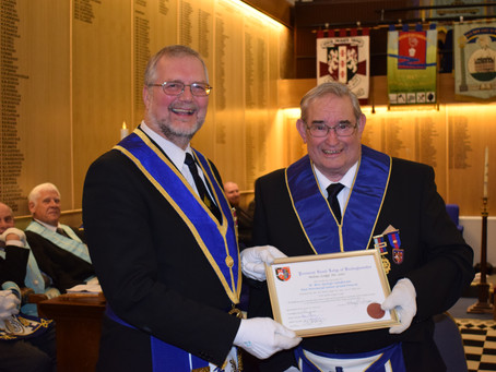 W. Bro. George Sanderson celebrates 50 years in Freemasonry!