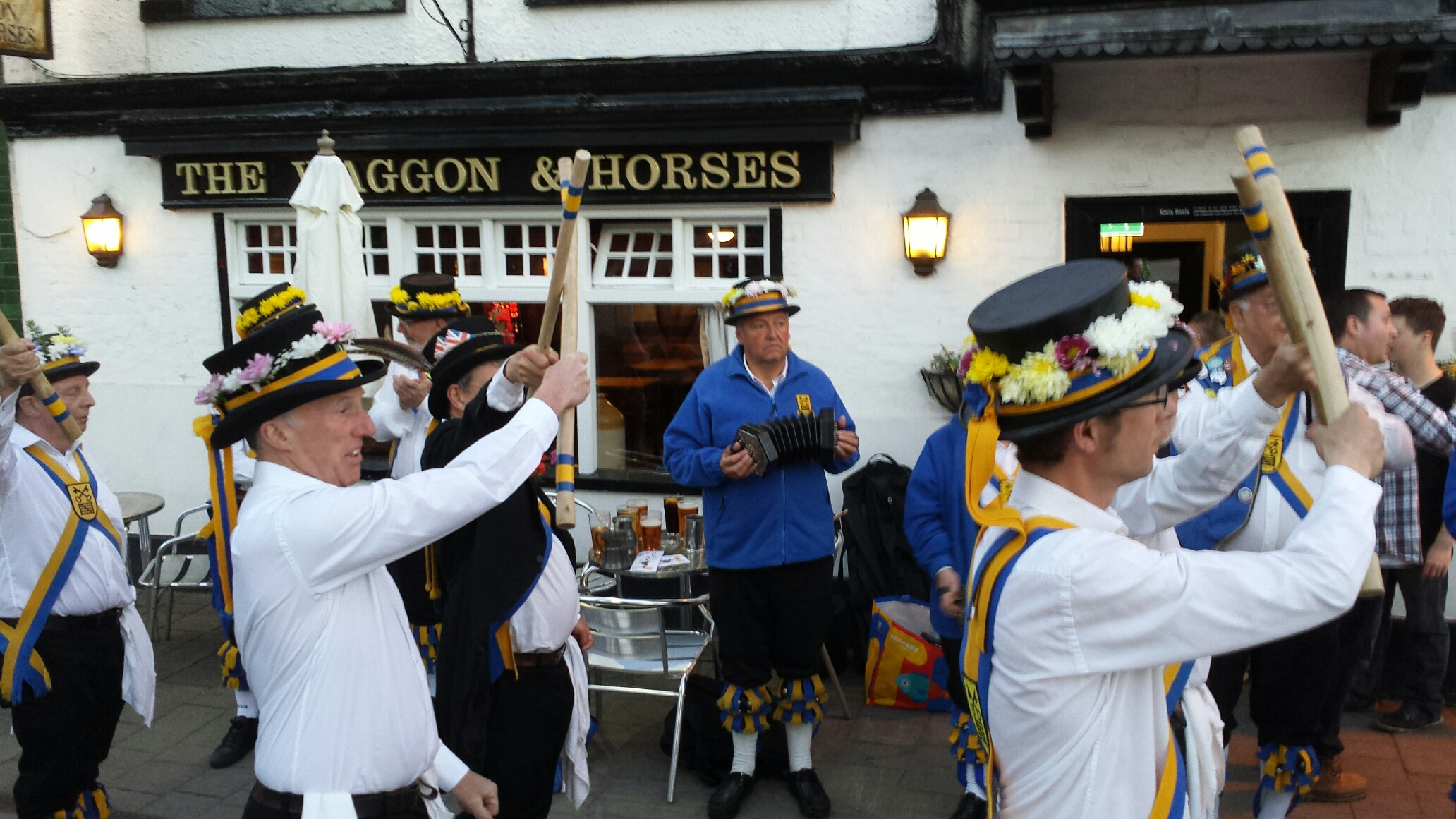 Phil at The Waggon and Horses