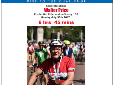 Bro. Gerry Price cycles 100 miles for Charity!